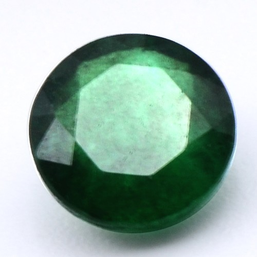 0.74 Cts Natural Top Fine Quality Green Emerald Round Cut Untreated Zambia