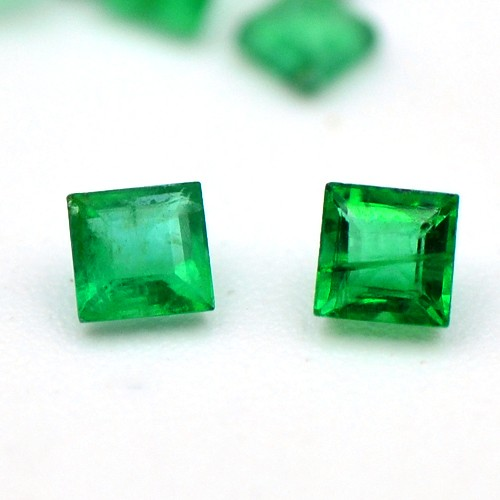 Natural Green Emerald 2.09 Cts Top Grade Quality Square Shape 60 Pcs 2 mm Zambia