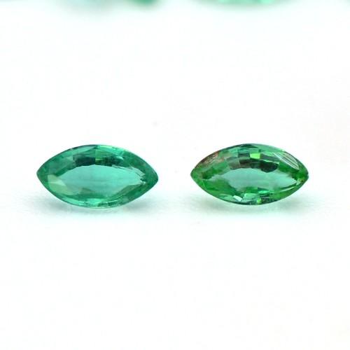 Natural Top Fine Rich Green Emerald Marquise Cut 80 Pcs 7.17 Cts 4x2 mm Zambia