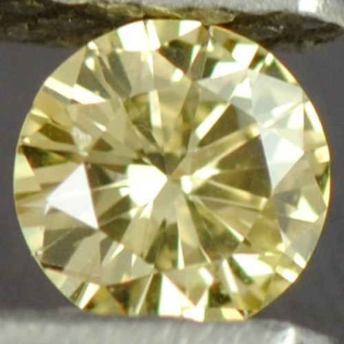 0.08 cts Natural Fancy Yellow Diamond Round Cut Loose Gemstone Belgium