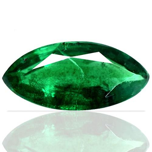 0.94 cts Natural Green Emerald Gemstone Marquise Cut Zambia Unheated