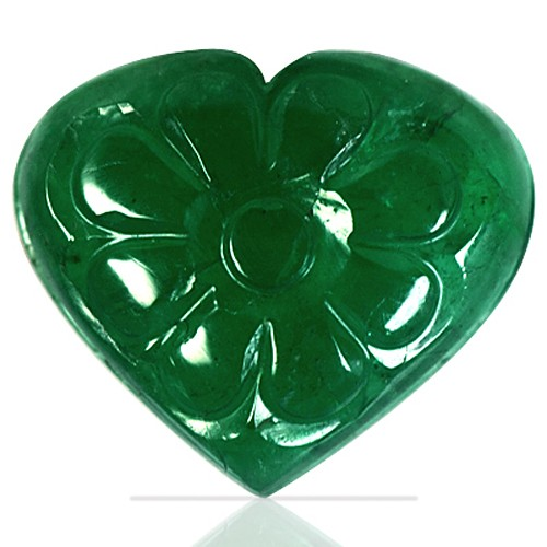 5.33 cts Natural Top Emerald Gemstone Hand Made Carving Zambia Unheated topcolor