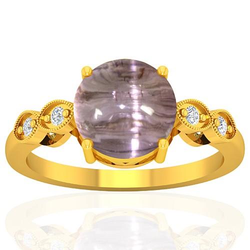 18k Yellow Gold 4.59 cts Tourmaline Diamond Wedding Designer Fine Jewelry Ring