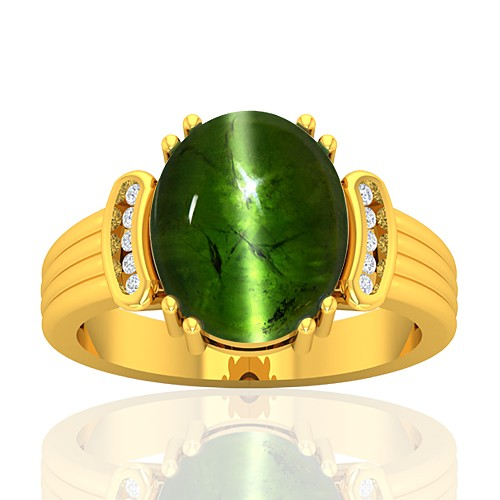18K Yellow Gold 8.27 cts Tourmaline Gemstone Diamond Women Wedding Designer Fine Jewelry Ring