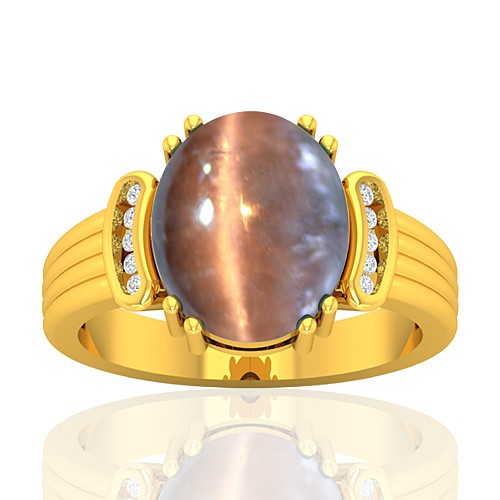 18K Yellow Gold 6.34 cts Tourmaline Stone Diamond Engagement Designer Fine Jewelry Ring