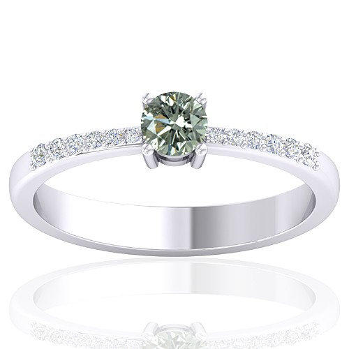 14K White Gold 0.29 cts Diamond Cocktail Vintage Engagement Women Designer Fine Jewelry Ring