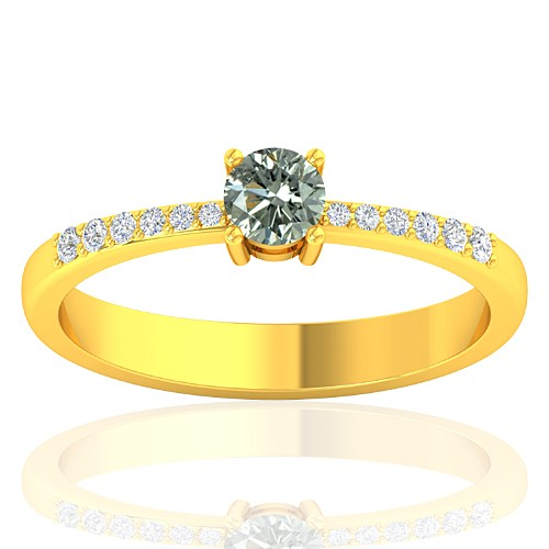 18K Yellow Gold 0.29 cts Diamond Cocktail Vintage Engagement Women Designer Fine Jewelry Ring