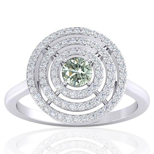 14K White Gold 0.29 cts Diamond Stone Diamond Engagement Designer Fine Jewelry Ring
