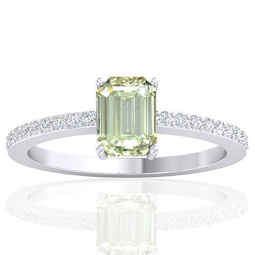 14K White Gold 1.02 cts Diamond Stone Women Wedding Designer Fine Jewelry Ring