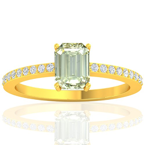 18K Yellow Gold 1.02 cts Diamond Stone Women Wedding Designer Fine Jewelry Ring