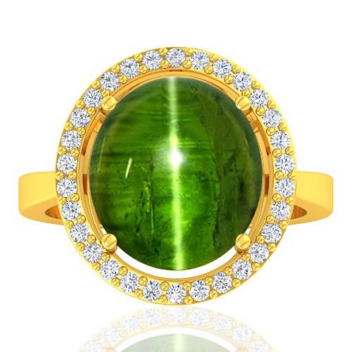 18K Yellow Gold 9.12 cts Tourmaline Gemstone Diamond Cocktail Designer Fine Jewelry Ring